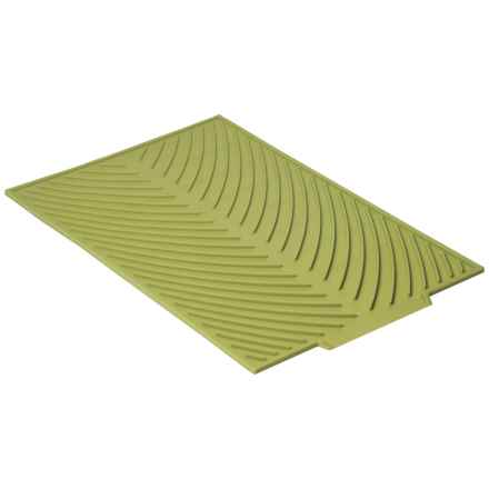 "Now Designs Silicone Glass Drying Mat - 15x10"" in Cactus - Closeouts"
