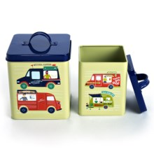 Now Designs Storage Tins - Set of 2 in Food Trucks - Closeouts