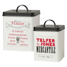 Now Designs Storage Tins - Set of 2 in Mercantile - Closeouts