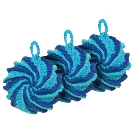 Now Designs Tawashi Spiral Scrubbers - 3-Pack in Bali - Closeouts