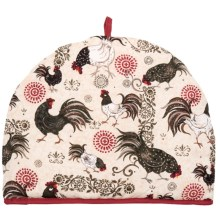 Now Designs Tea Cosy in Rustic Roosters - Closeouts