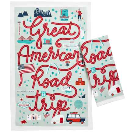 Now Designs Tea Towels - Set of 2 in Road Trip - Closeouts