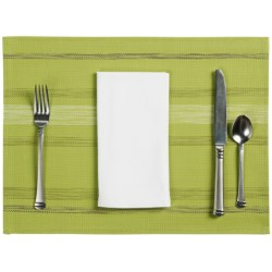 Now Designs Twister Placemat - Woven Vinyl in Grey