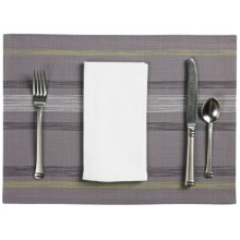 Now Designs Twister Placemat - Woven Vinyl in Grey - Closeouts