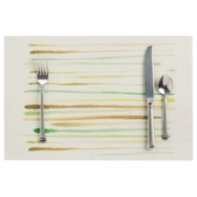 """Now Designs Watercolor Brushstroke Placemat - Woven Vinyl, 12x18"""" in Greens - Closeouts"""