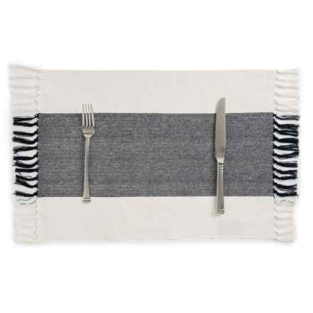 Now Designs Wide-Stripe Placemat in Black - Closeouts