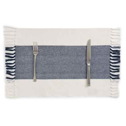 Now Designs Wide-Stripe Placemat in Navy - Closeouts