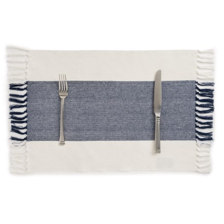 Now Designs Wide-Stripe Placemat in Navy