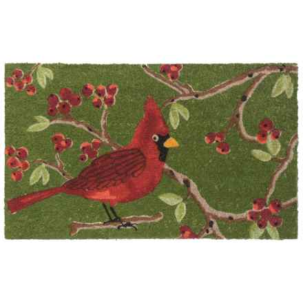 "Now Designs Winter Bird Coir Doormat - 30x18"" in Cardinal - Closeouts"
