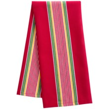Now Designs Woven Stripe Dish Towel in Red - Closeouts