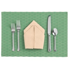 Now Designs Zigzag Placemat - Vinyl in Green - Closeouts
