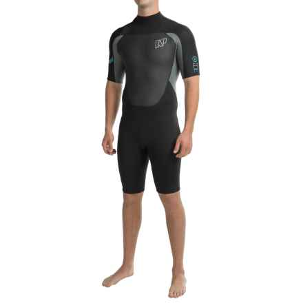 NP Surf Rise Shorty Wetsuit - 2mm, Short Sleeve (For Men) in Black - Closeouts