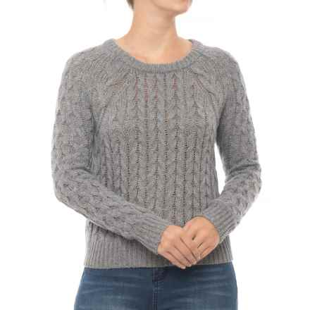 n:Philanthropy Bambi Cable Sweater (For Women) in Grey Mountain - Closeouts