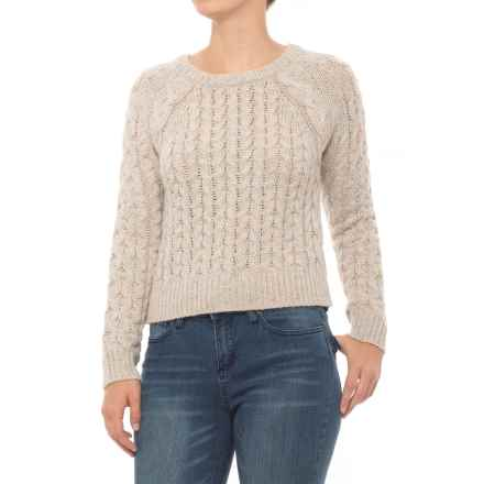 n:Philanthropy Bambi Cable Sweater (For Women) in Marble White - Closeouts