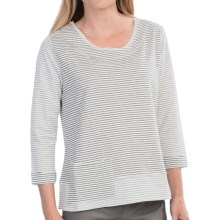 NTCO Alicia Shirt - Long Sleeve (For Women) in Gray Stripes - Closeouts
