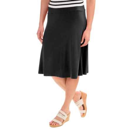 NTCO Between the Lines Skirt - Stretch Rayon (For Women) in Black - Closeouts