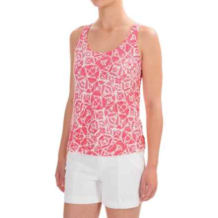 NTCO Between the Lines Tank Top - Stretch Rayon (For Women) in Calypso Prism - Closeouts