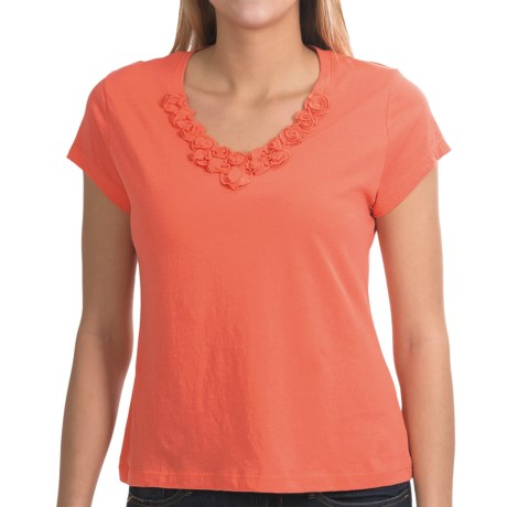 NTCO Buena Vista Floret T-Shirt - Pima Cotton, Short Sleeve (For Women) in Capri