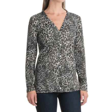 NTCO Jumpers Cheetahs Cardigan Sweater (For Women) in Cheetah - Closeouts
