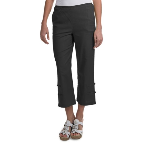 NTCO Kyoto Linen Crop Pants (For Women) in Citron