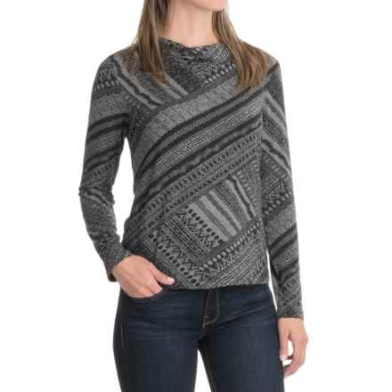NTCO Matrix Sacha Shirt - Long Sleeve (For Women) in Charcoal Matrix - Closeouts