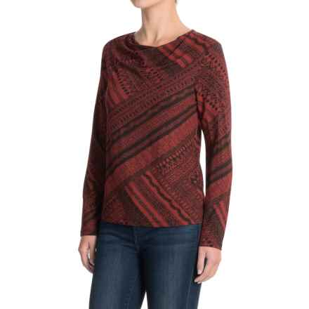 NTCO Matrix Sacha Shirt - Long Sleeve (For Women) in Sienna Matrix - Closeouts