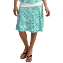 NTCO Monaco Skater Skirt (For Women) in Jade Stripe - Overstock