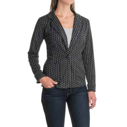 NTCO Montage Boyfriend Knit Jacket (For Women) in Polka Dot - Closeouts