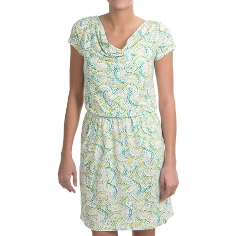 NTCO Rendezvous Olivia Dress - Stretch Jersey, Short Sleeve (For Women) in Midori Circa