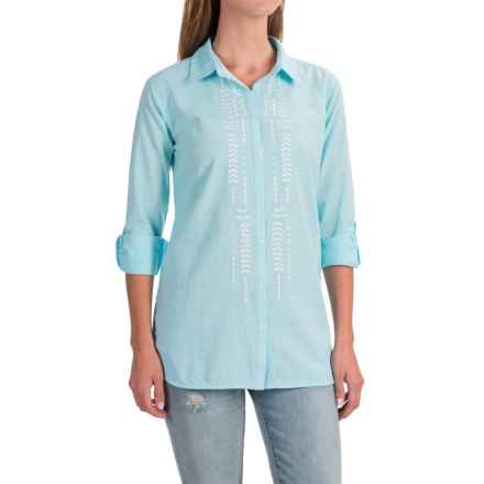 NTCO Sedona Embroidered Shirt - Long Sleeve (For Women) in Sky - Closeouts
