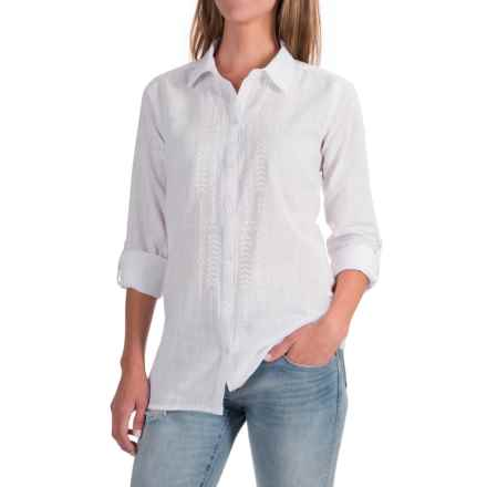 NTCO Sedona Embroidered Shirt - Long Sleeve (For Women) in White - Closeouts