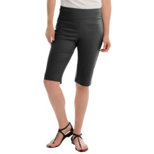 NTCO Ship & Shore Bermuda Shorts - Stretch Cotton (For Women) in Black - Closeouts