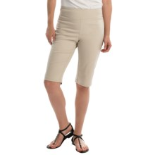 NTCO Ship & Shore Bermuda Shorts - Stretch Cotton (For Women) in Stone - Closeouts
