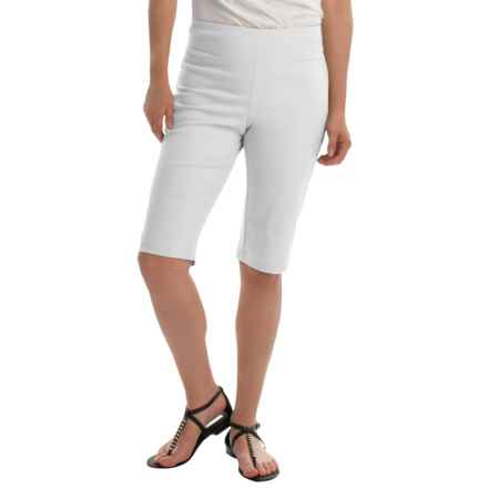 NTCO Ship & Shore Bermuda Shorts - Stretch Cotton (For Women) in White - Closeouts