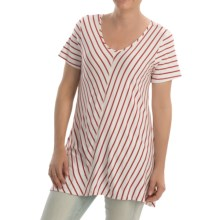 NTCO Ship & Shore Laurel Tunic Shirt - Stretch Rayon, Short Sleeve (For Women) in Red - Closeouts