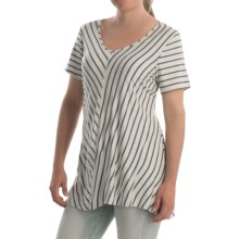 NTCO Ship & Shore Laurel Tunic Shirt - Stretch Rayon, Short Sleeve (For Women) in Silver - Closeouts