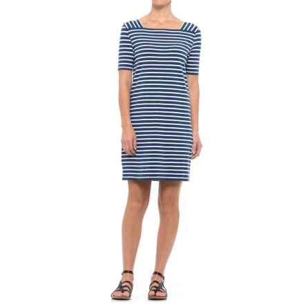 NTCO Shoreline Peruvian Dress - Cotton-Modal Blend, Short Sleeve (For Women) in Navy - Closeouts