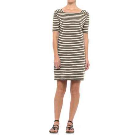 NTCO Shoreline Peruvian Dress - Cotton-Modal Blend, Short Sleeve (For Women) in Olive - Closeouts