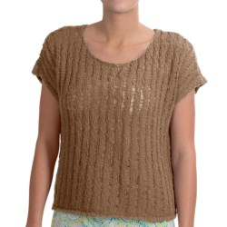 NTCO Tape Yarn Ryco Sweater Shirt - Short Sleeve (For Women) in Natural