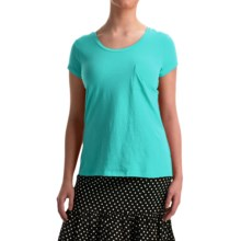 NTCO World Market T-Shirt - Pima Cotton, Short Sleeve (For Women) in Capri - Overstock