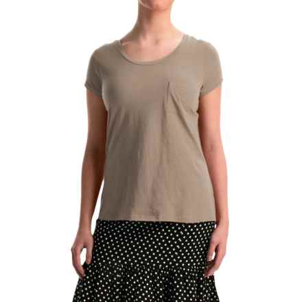 NTCO World Market T-Shirt - Pima Cotton, Short Sleeve (For Women) in Coco - Overstock
