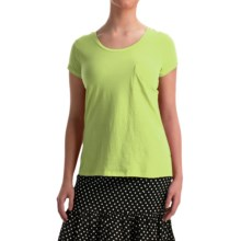 NTCO World Market T-Shirt - Pima Cotton, Short Sleeve (For Women) in Keylime - Overstock