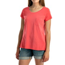 NTCO World Market T-Shirt - Pima Cotton, Short Sleeve (For Women) in Melon - Overstock