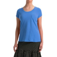 NTCO World Market T-Shirt - Pima Cotton, Short Sleeve (For Women) in Sapphire - Overstock