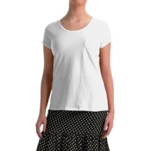 NTCO World Market T-Shirt - Pima Cotton, Short Sleeve (For Women) in White - Overstock