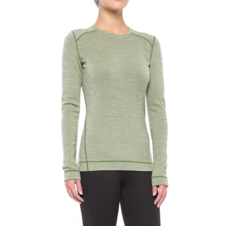 NTS 250 Pattern Base Layer Top – Merino Wool, Crew Neck, Long Sleeve (For Women)
