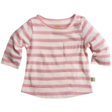 Nui Jersey Pocket Shirt - Merino Wool, Long Sleeve (For Kids) in Rose Stripe - Closeouts