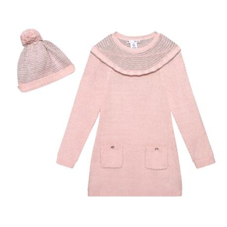 aa667dc686 Nula Bug Metallic Stripe Stitch Dress - Long Sleeve (For Little Girls) in  Blush