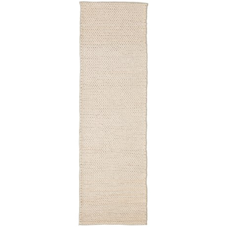 nuLOOM Braided Floor Runner - 2x8', Wool-Cotton in Off White