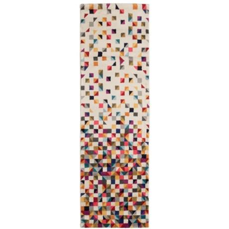 nuLOOM Geometric Modern Look Floor Runner - 2x8' in Multi